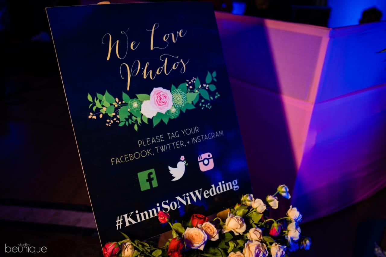 Social Media Savvy Wedding Sign